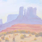 Oil Painting of Monument Valley