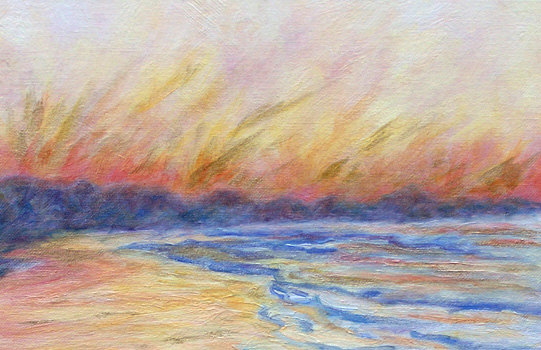 Oil Painting - Beach Ablaze